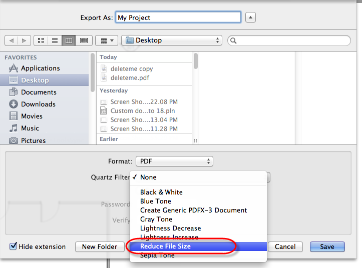 Cadimage Blog » Further reduce PDF File Size on Mac