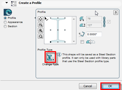 Create Profile Dialog