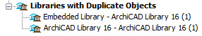 Libraries with Duplicate Objects