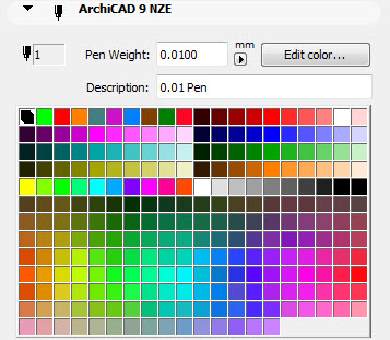 ArchiCAD 9 penset