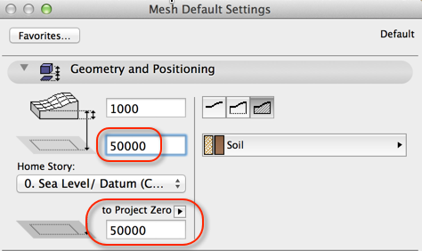 mesh settings