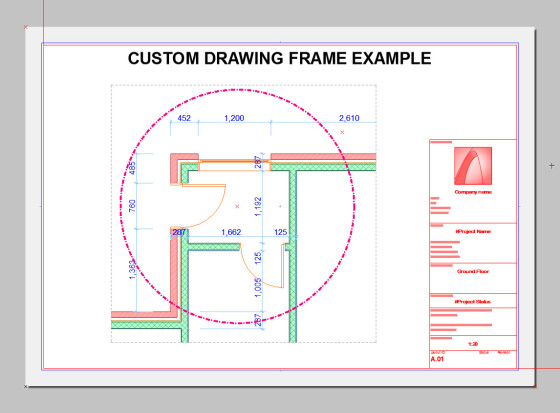 custom drawing frame 1