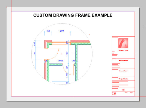 custom drawing frame 5