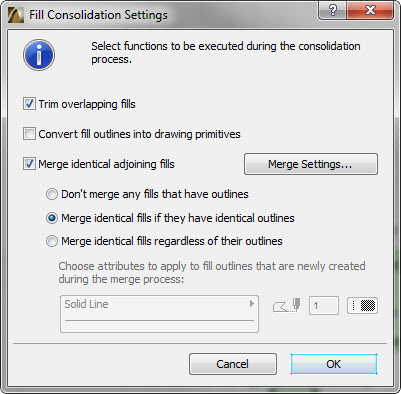 fill consolidation dialog