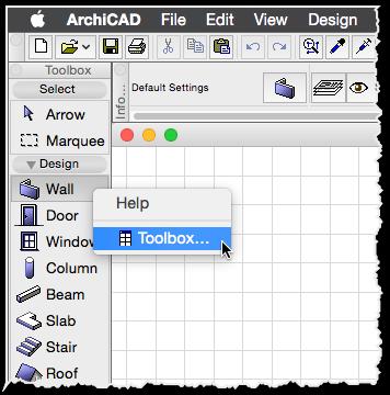 toolbox settings