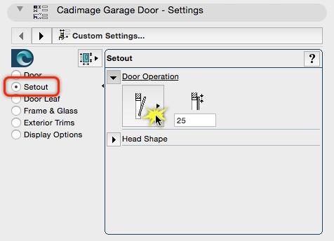 Change the Garage Door Operation type